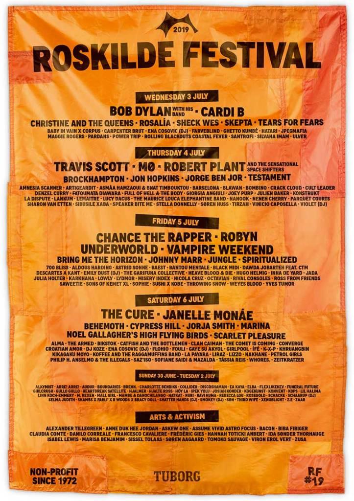 Roskilde Festival 2019 poster Chance The Rapper added