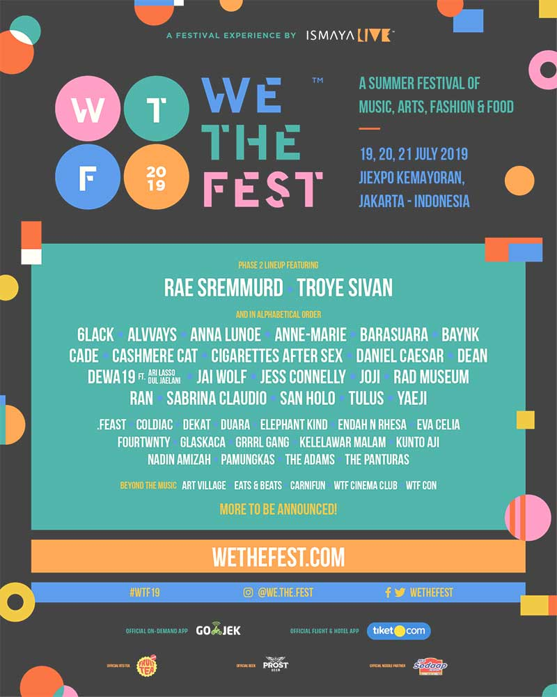 We The Fest 2019 Jakarta 2nd phase poster