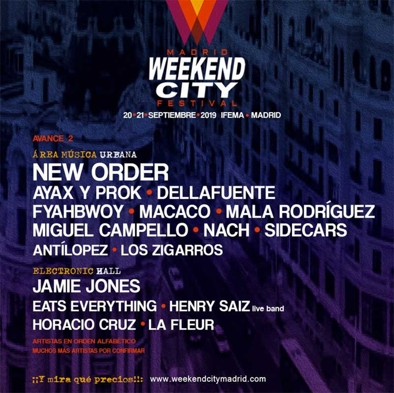 Weekend City Festival 2019 Madrid poster