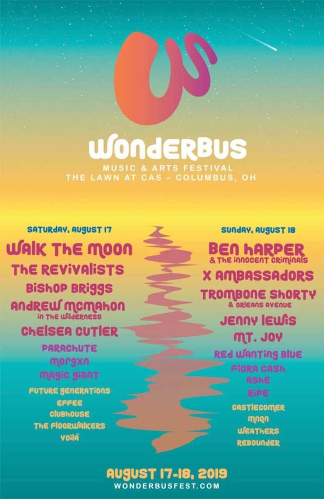 Wonderbus Festival 2019 Ohio poster