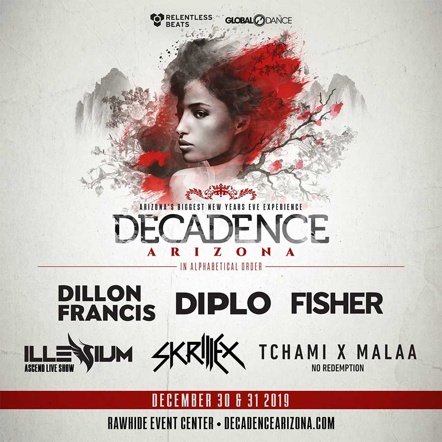Decadence Arizona 2019 first acts poster