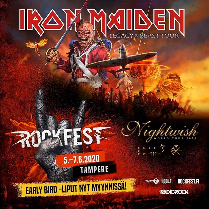 Iron Maiden Rockfest 2020 Finland poster
