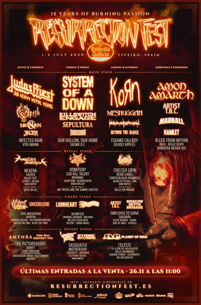 Resurrection Fest 2020 full poster