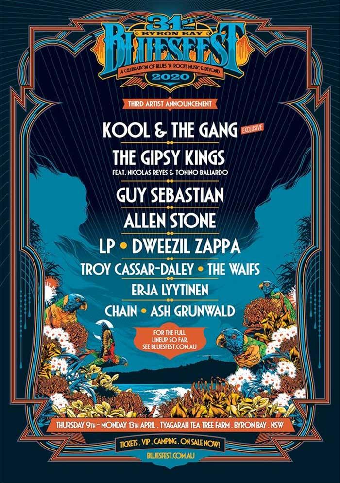 Bluesfest Australia 3rd announce poster