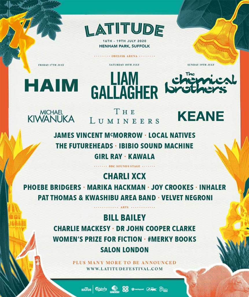Latitude Festival UK first acts 2020 poster