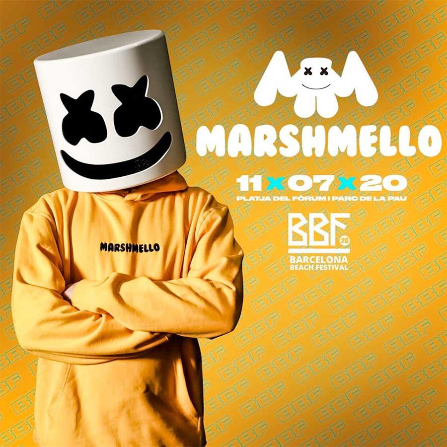 Marshmello plays Barcelona Beach Fest 2020