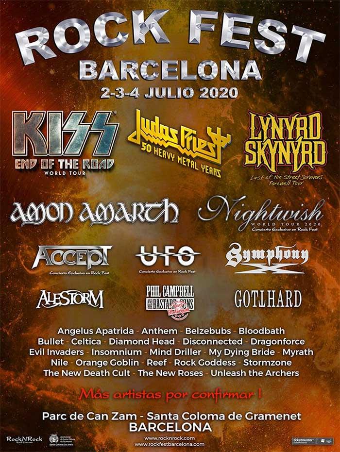 Rock Fest Barcelona 7 new bands poster