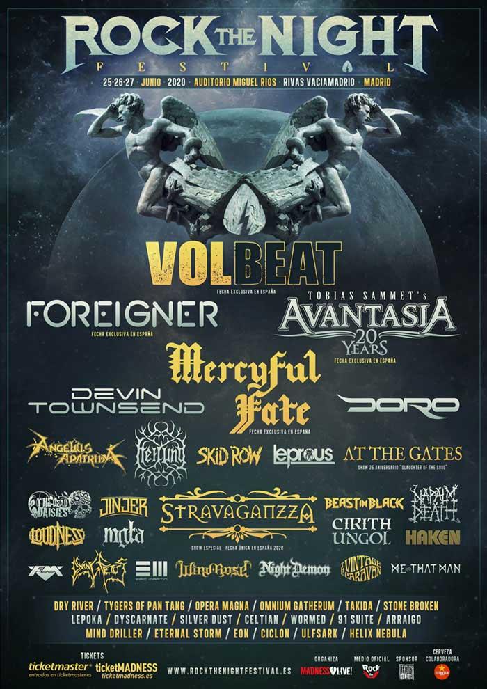 Rock The Night Festival 2020 Volbeat poster