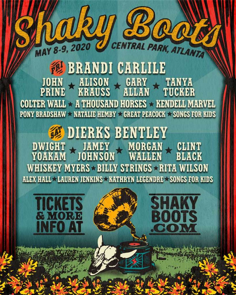 Shaky Boots Festival 2020 poster