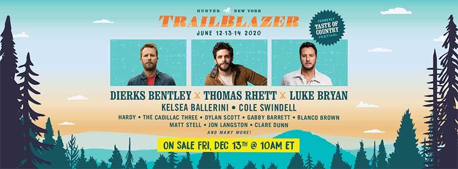 Trailblazer Festival 2020 headliners poster