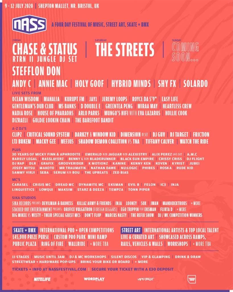 NASS Festival 2020 Second Announce poster