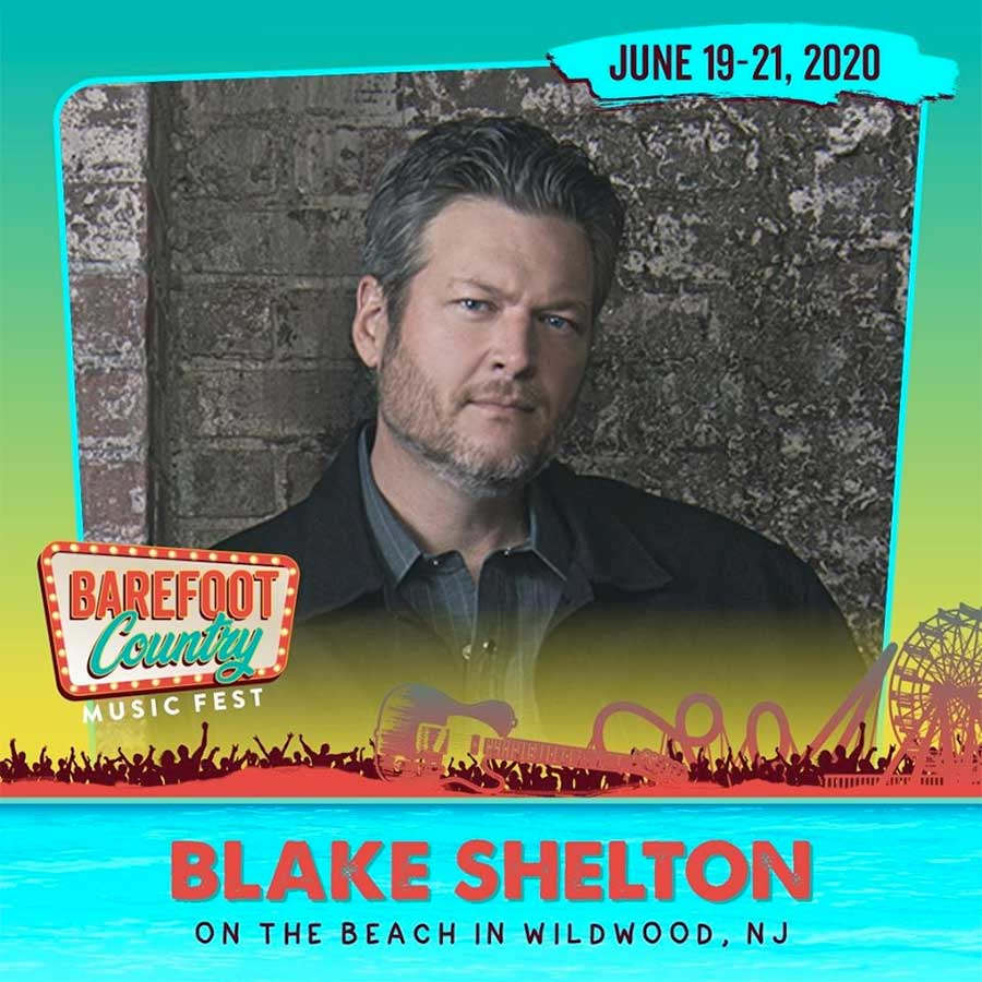 Blake Shelton headlines Barefoot Country Music Fest 2020 poster