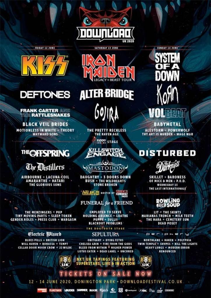 Download Festival UK poster 40 new bands