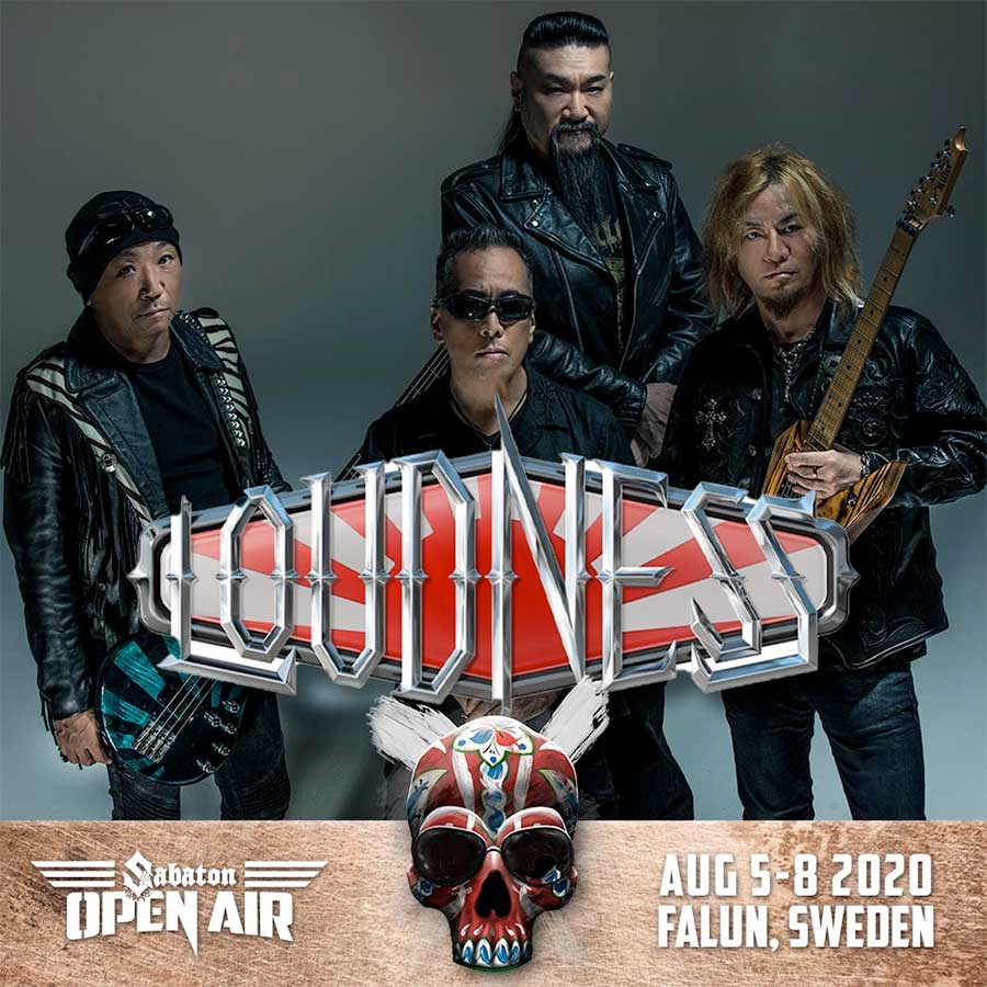 Loudness to play Sabaton Open Air 2020 poster