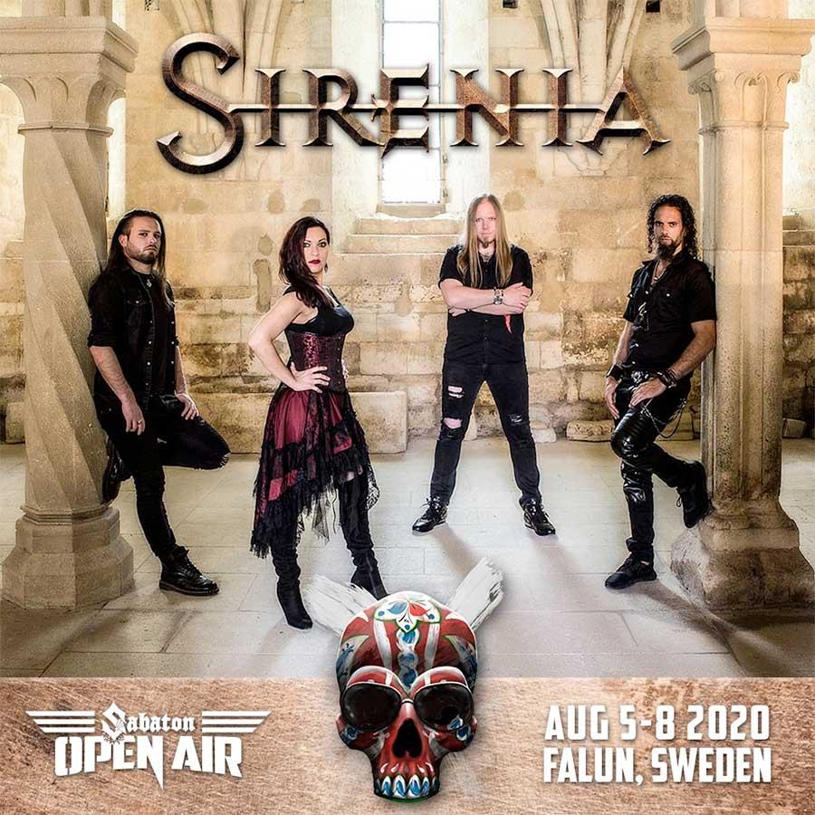 Sirenia play Sabaton Open Air 2020 poster