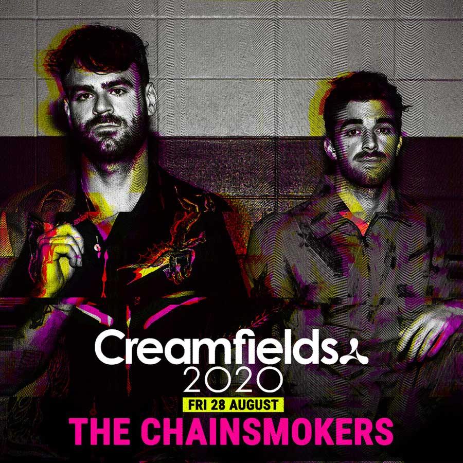The Chainsmokers headline Creamfields UK 2020 poster