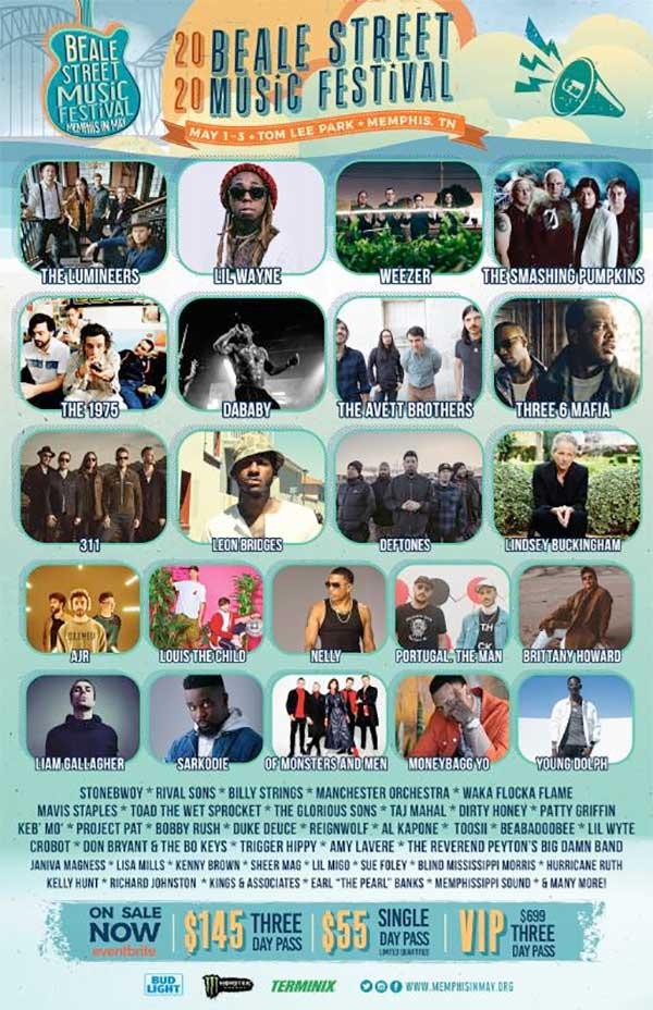 Beale Street Music Festival USA 2020 poster