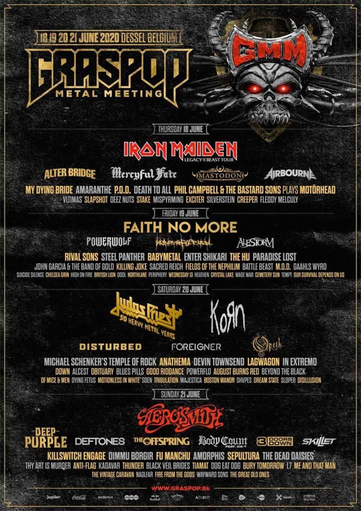 Graspop Metal Meeting 2020 Feb poster