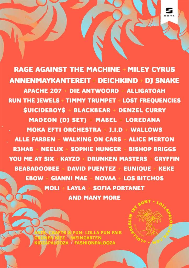 Lollapalooza Berlin 2020 first poster