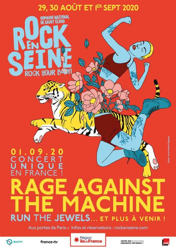 Rock en Seine 2020 Rage poster
