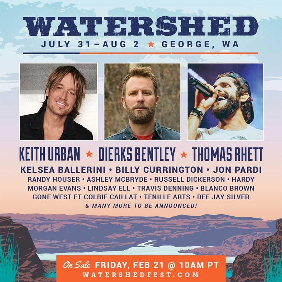 Watershed Music Festival 2020 first poster USA