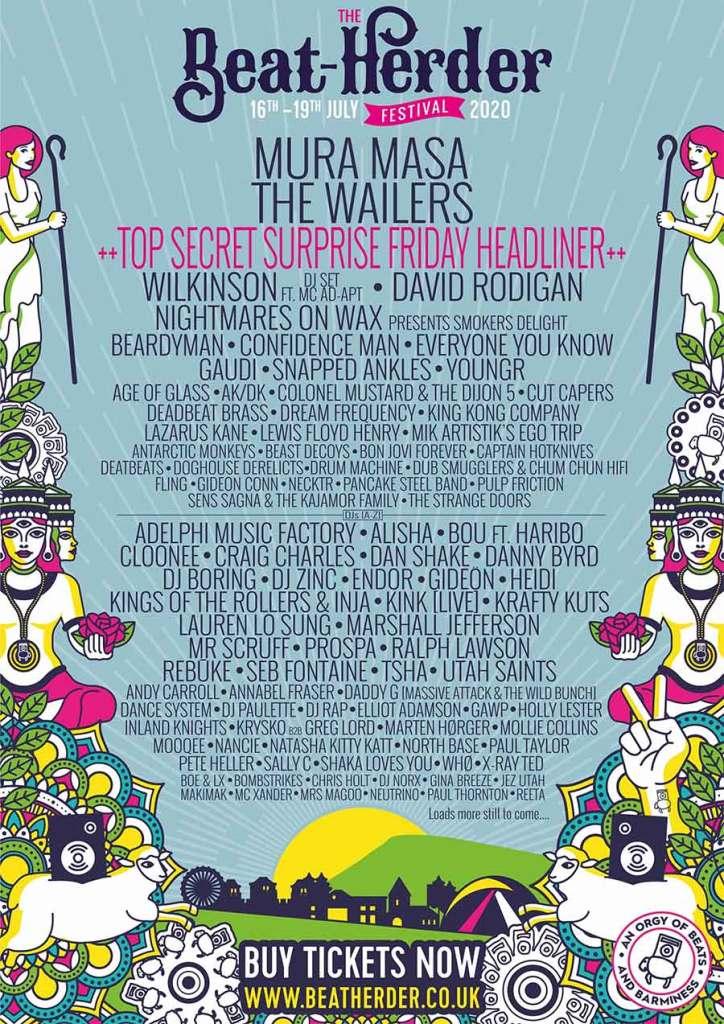 Beat Herder Festival UK 2020 poster