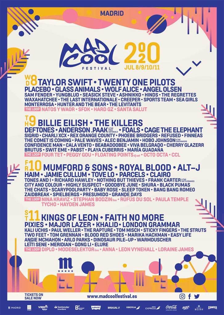 Mad Cool Festival 2020 final poster