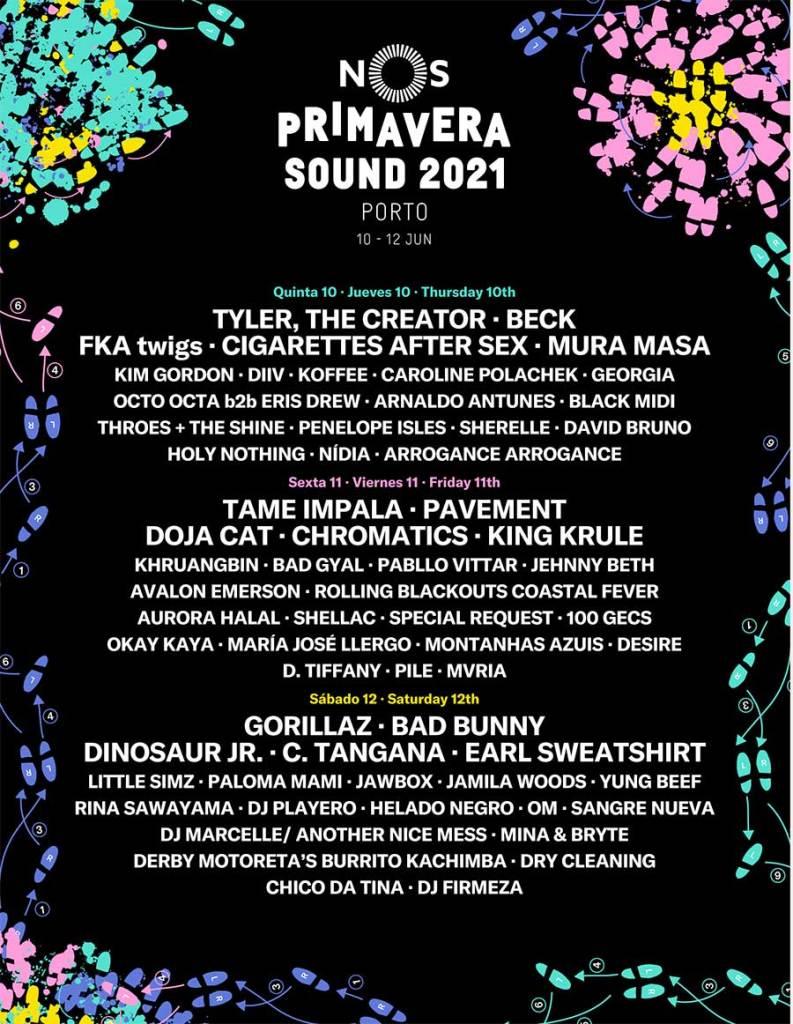 NOS Primavera Sound Porto 2021 poster