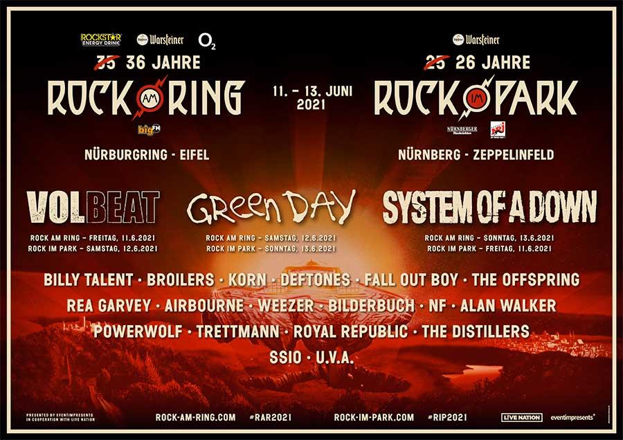 Rock am Ring Rock im Park 2021 2nd wave bands poster