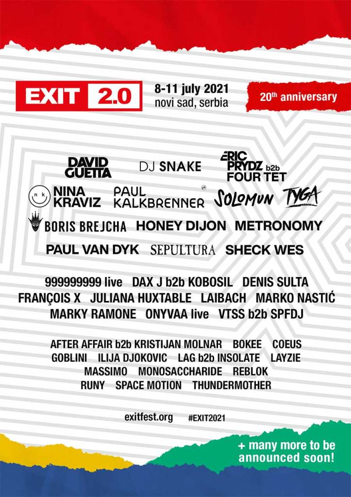 EXIT Festival 2021 Oct poster