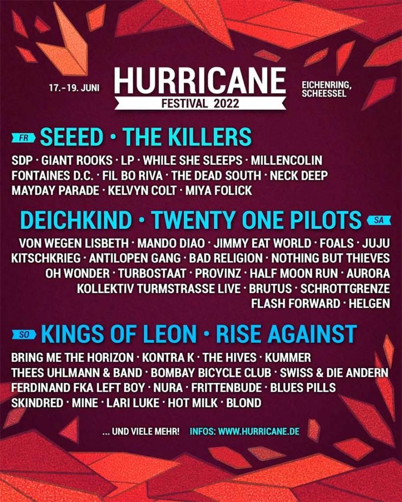 Hurricane Festival 2022 poster