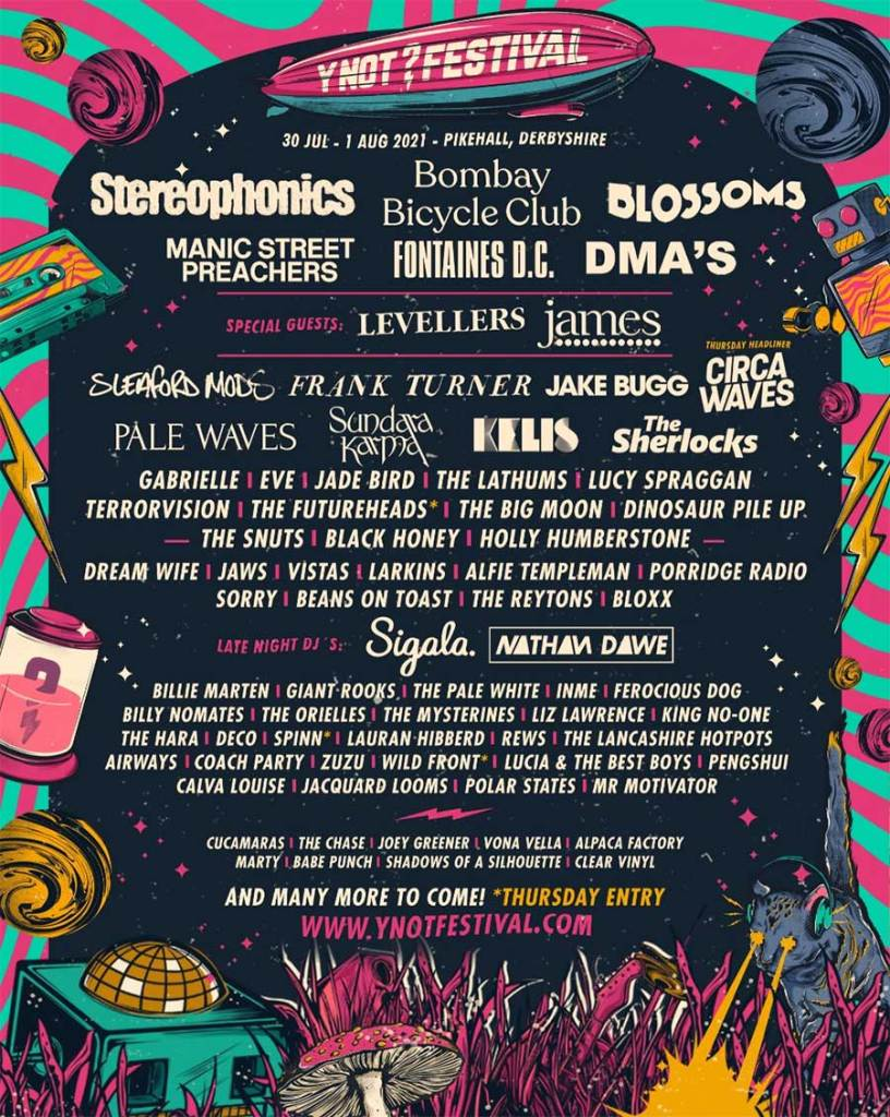 Y NOT Festival 2021 poster