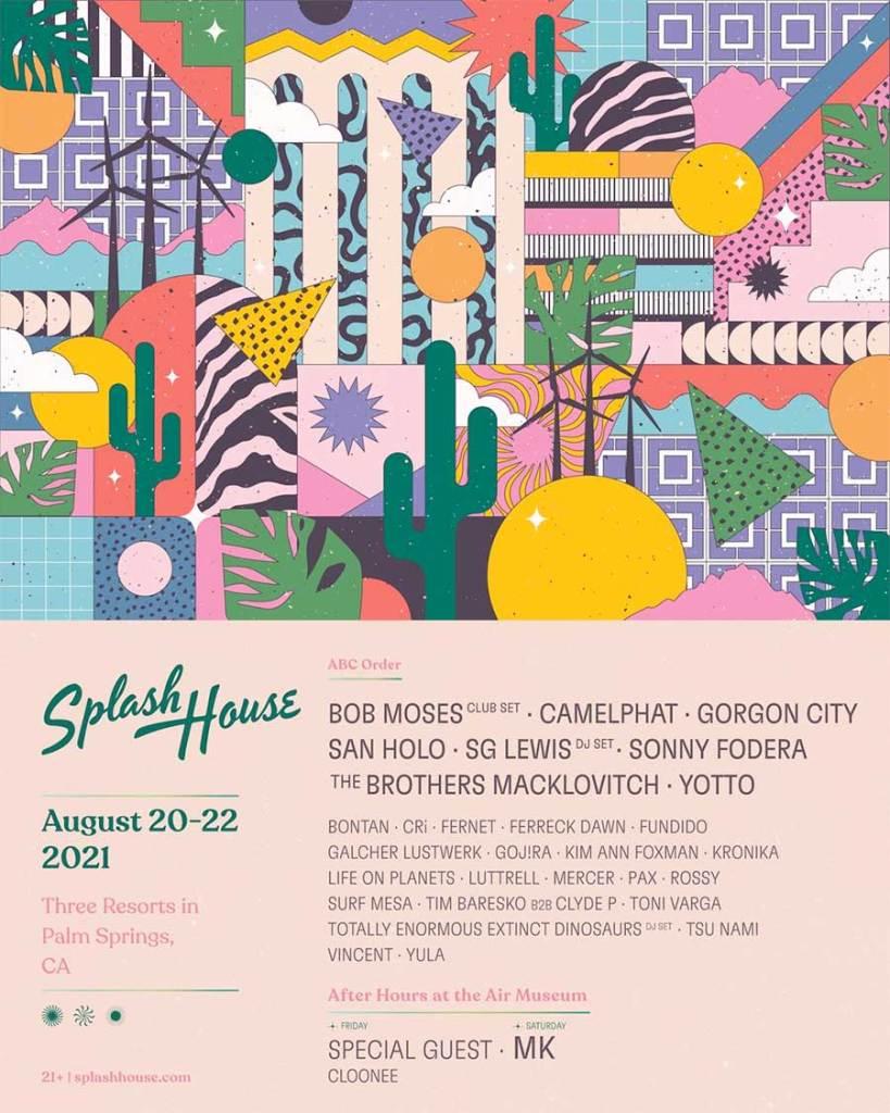 Splash House 2021 weekend 2 poster