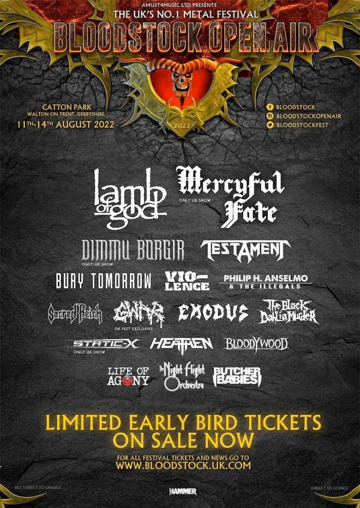 Bloodstock Open Air UK 2022 first poster
