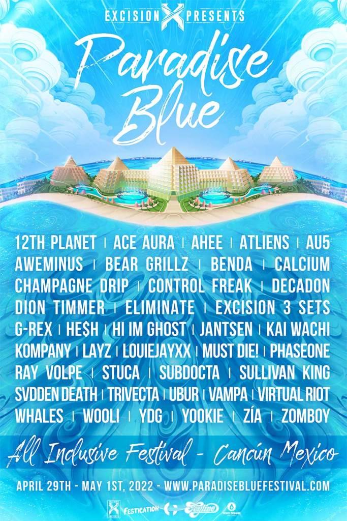 Paradise Blue Festival 2022 poster