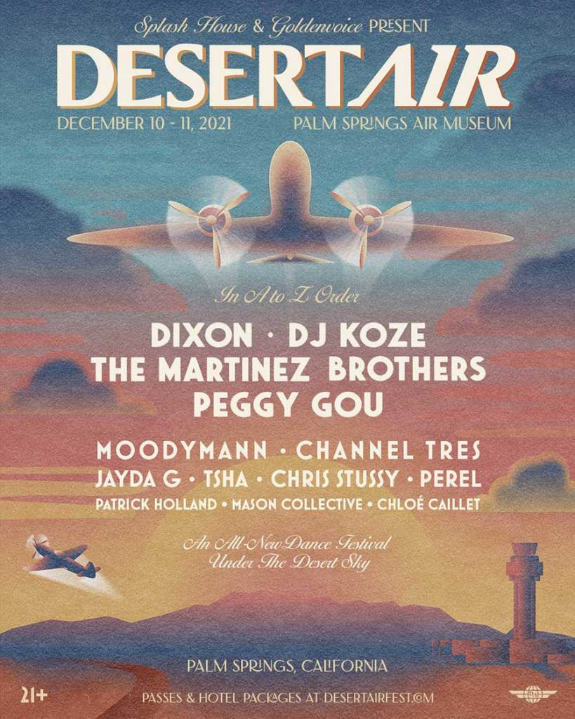 Desert Air  Festival 2021 first acts poster