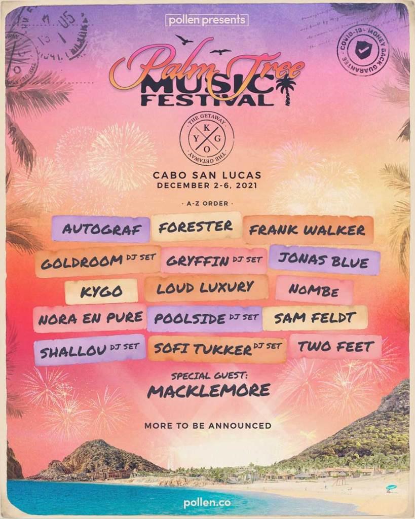 Palm Tree Music Festival 2021 poster