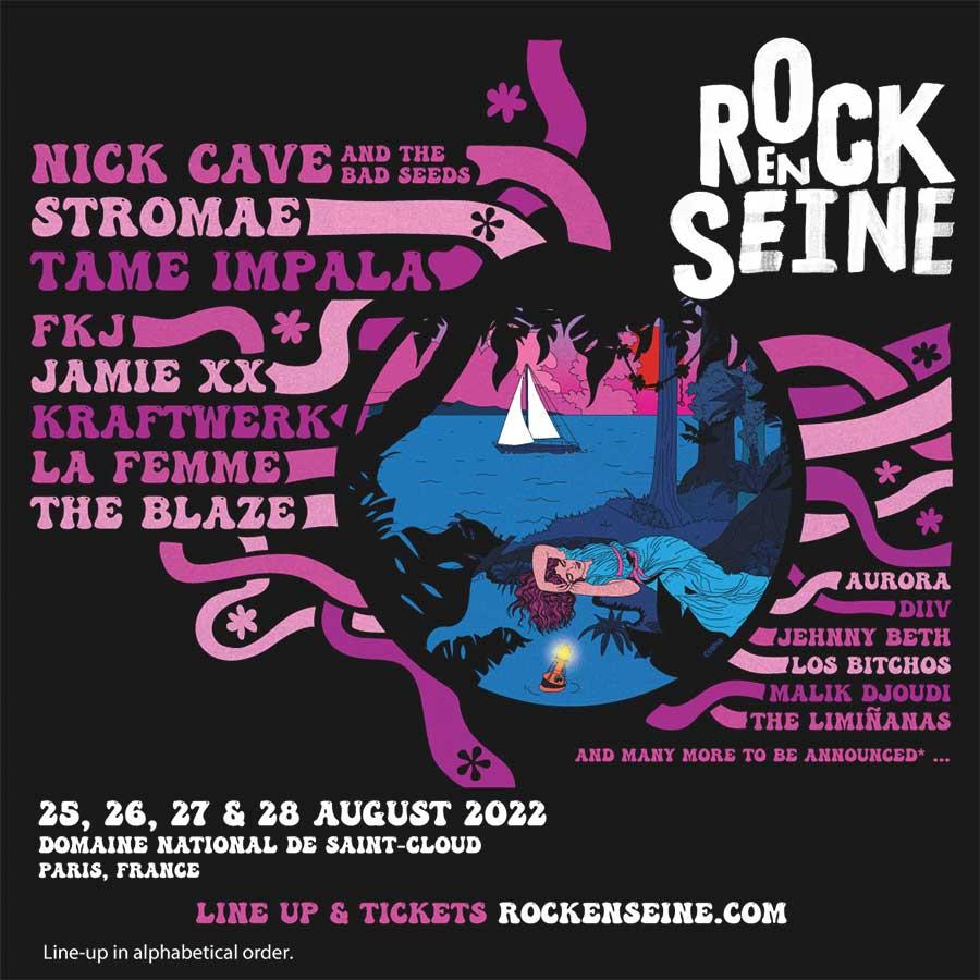 Rock en Seine 2022 first acts poster