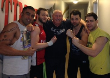 Our Italian Pro Wrestling friends before they returned to Rome.