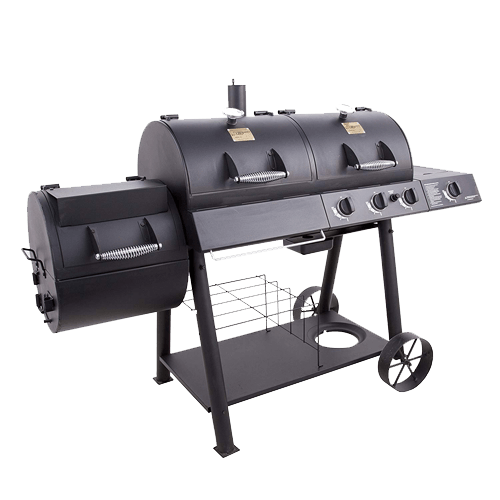 Oklahoma Joe's Charcol LP Gas Smoker Combo