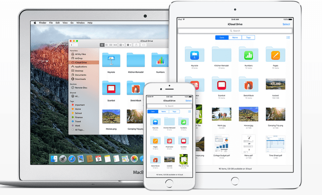 The iCloud Drive app which comes with iOS 9. Photo: Apple