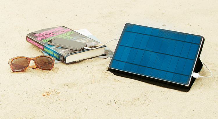 A Solar-Powered Charger for the iPhone and iPad? Yes, You Read that Right