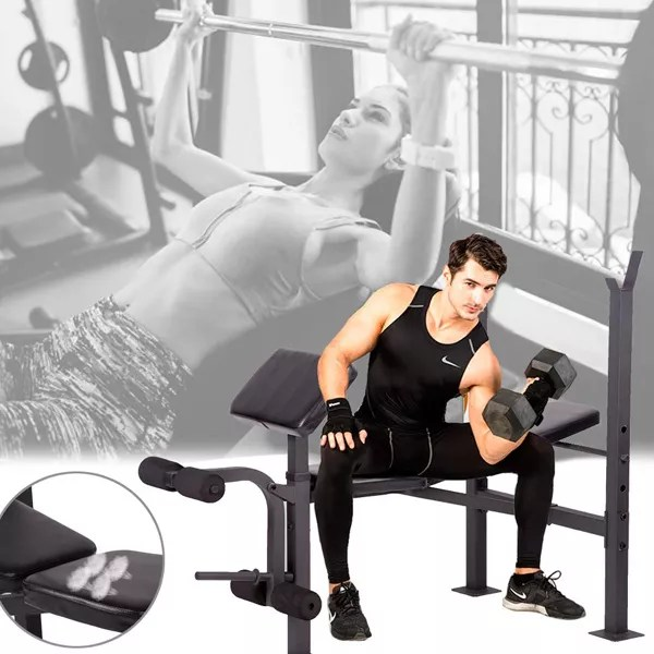 Workout Bench Being Used