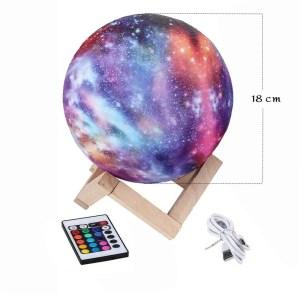 16 Color 3D Galaxy Star Kids LED Luna Lamp 18CM AU (18CM)