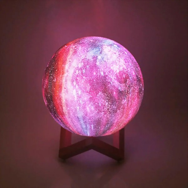 16 Color 3D Galaxy Star Kids LED Luna Lamp 20CM AU