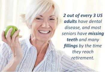 seniors missing teeth