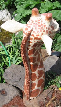 Giraffe Mane, Ears and Horns