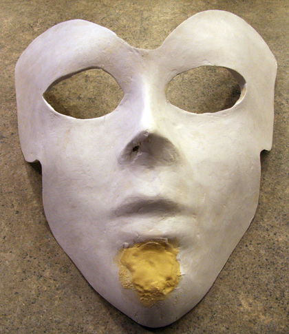 Primer Added to Paper Mache Mask