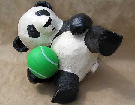 Finished Paper Mache Panda