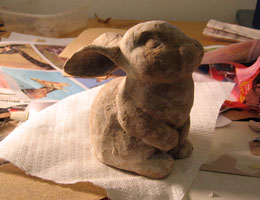 Paper Mache Dutch Rabbit, Step 4
